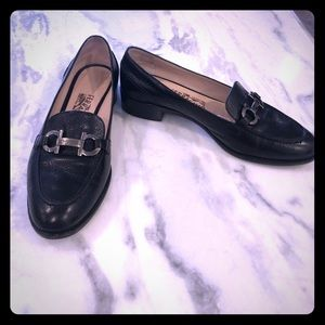 Ferragamo black loafers. These fit beautifully.